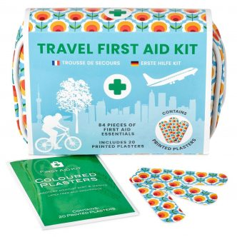 84 Piece Flower Design Mini Travel First Aid Kit by Yellodoor