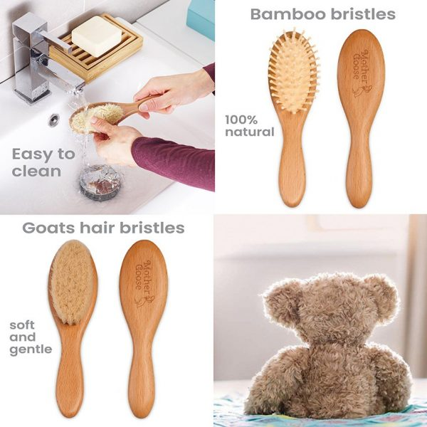 All-Natural Baby Hair Brush Set by Yellodoor 8