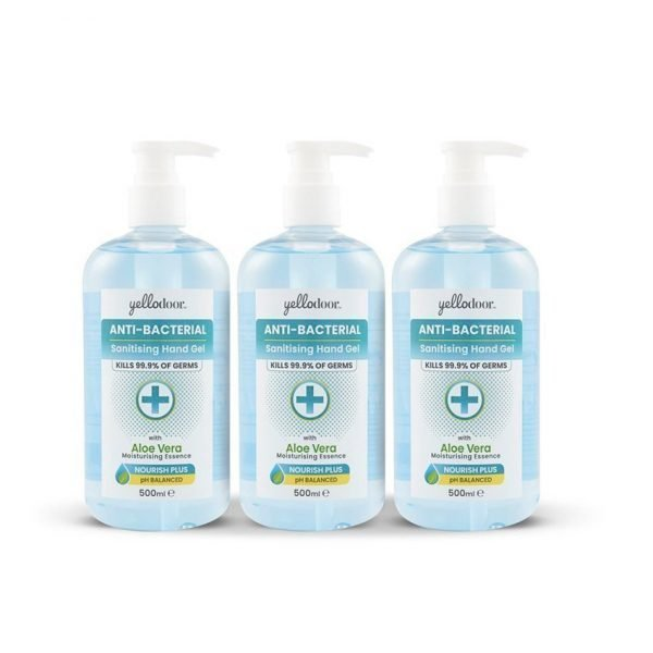 Anti-Bacterial Hand Sanitiser Gel with Aloe Vera Home and Work 3 Bottles
