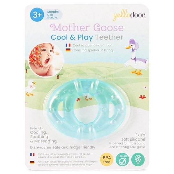 Mother Goose Cool & Play Teether Ring Teething Toys for Baby