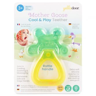 Mother Goose Cool & Play Massaggiagengive con manico a sonaglio